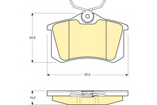 GIRLING 6108231 Комплект тормозных колодок, дисковый тормоз