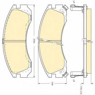 GIRLING 6111269 Комплект тормозных колодок, дисковый тормоз