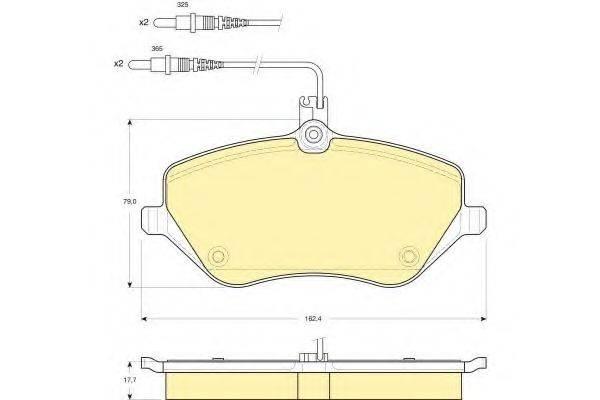 GIRLING 6115951 Комплект тормозных колодок, дисковый тормоз
