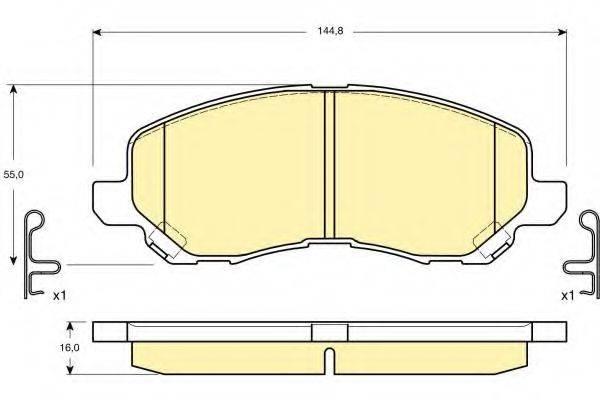 GIRLING 6132879 Комплект тормозных колодок, дисковый тормоз