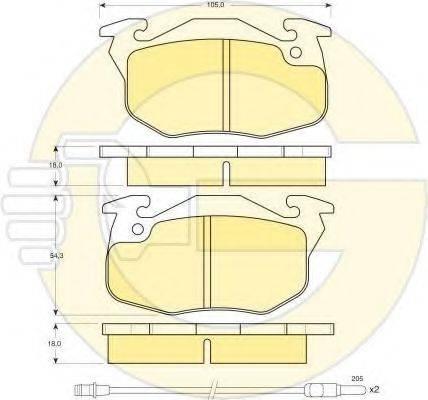 GIRLING 6410033 Комплект тормозов, дисковый тормозной механизм