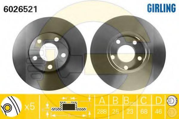 GIRLING 6410932 Комплект тормозов, дисковый тормозной механизм