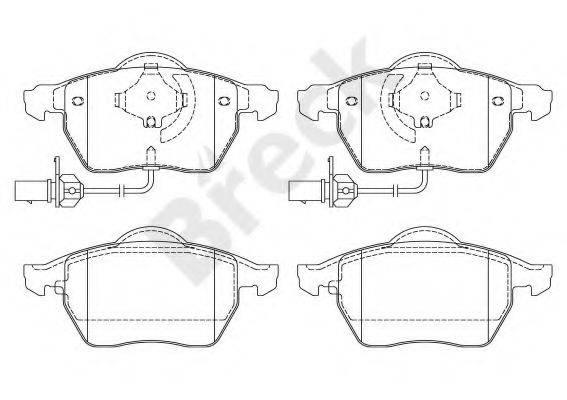 BRECK 230180070110 Комплект тормозных колодок, дисковый тормоз