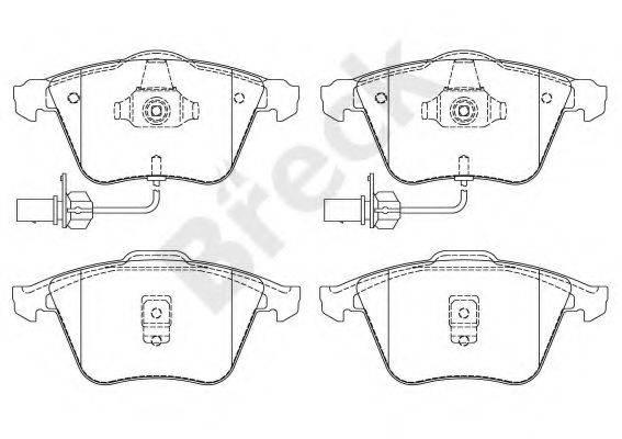 BRECK 237620070110 Комплект тормозных колодок, дисковый тормоз