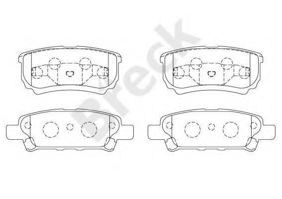 BRECK 240140070210 Комплект тормозных колодок, дисковый тормоз