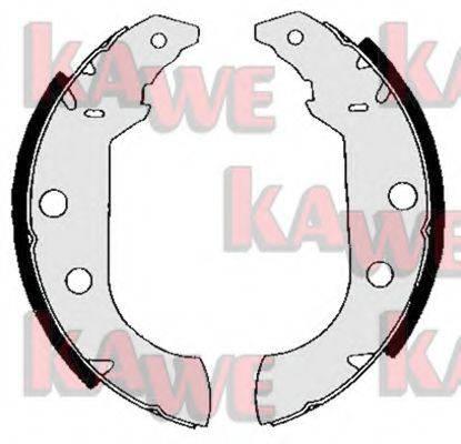 KAWE 04980 Комплект тормозных колодок