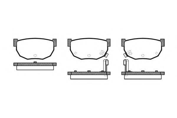KAWE 015102 Комплект тормозных колодок, дисковый тормоз