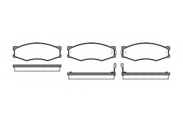 KAWE 018402 Комплект тормозных колодок, дисковый тормоз