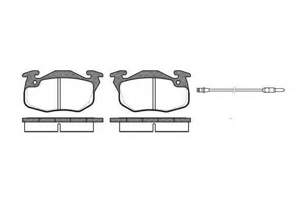 KAWE 019212 Комплект тормозных колодок, дисковый тормоз