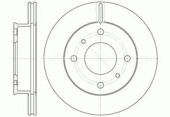 KAWE 6124110 Тормозной диск