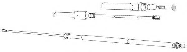 KAWE PU02236 Трос, стояночная тормозная система