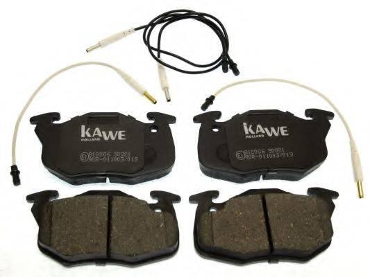 KAWE 810006 Комплект тормозных колодок, дисковый тормоз
