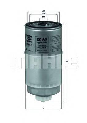 MAHLE ORIGINAL KC69 Топливный фильтр