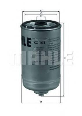 MAHLE ORIGINAL KC102 Топливный фильтр