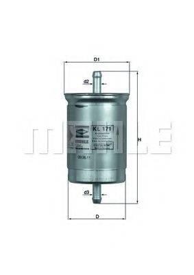 MAHLE ORIGINAL KL171 Топливный фильтр