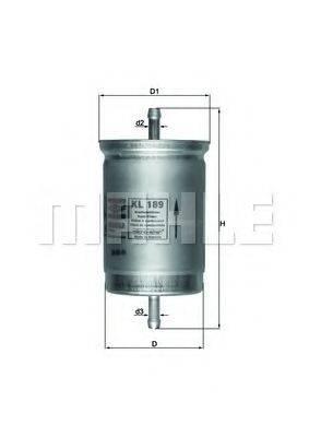 MAHLE ORIGINAL KL189 Топливный фильтр