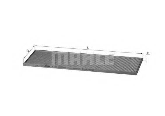MAHLE ORIGINAL LA355 Фильтр, воздух во внутренном пространстве