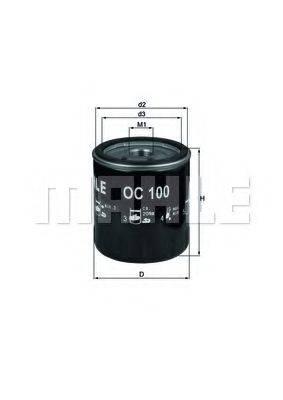 MAHLE ORIGINAL OC100 Масляный фильтр