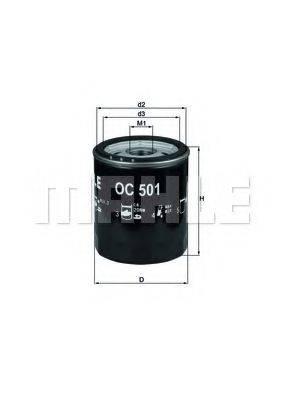 Масляный фильтр MAHLE ORIGINAL OC 501