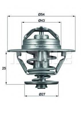 MAHLE ORIGINAL TX9379D Термостат, охлаждающая жидкость