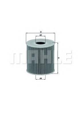 MAHLE ORIGINAL OX3392D Масляный фильтр