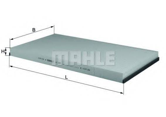 MAHLE ORIGINAL LA683 Фильтр, воздух во внутренном пространстве