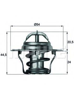 MAHLE ORIGINAL TX487D Термостат, охлаждающая жидкость