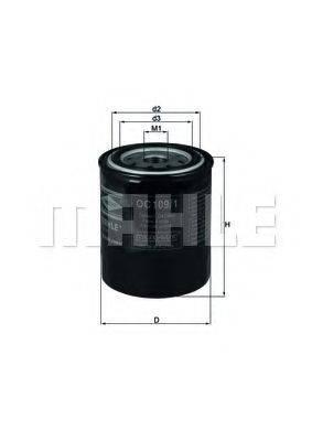 MAHLE ORIGINAL OC1091 Масляный фильтр