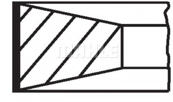 MAHLE ORIGINAL 22701N0 Комплект поршневых колец