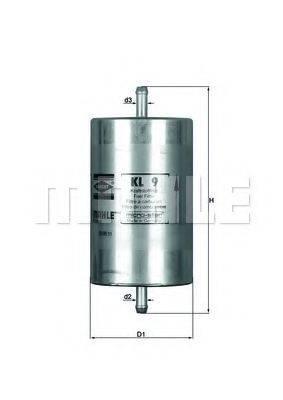 MAHLE ORIGINAL KL9 Топливный фильтр
