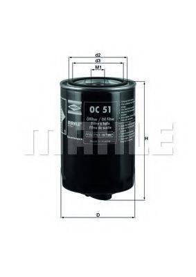 MAHLE ORIGINAL OC51 Масляный фильтр