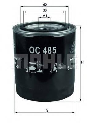 MAHLE ORIGINAL OC485 Масляный фильтр