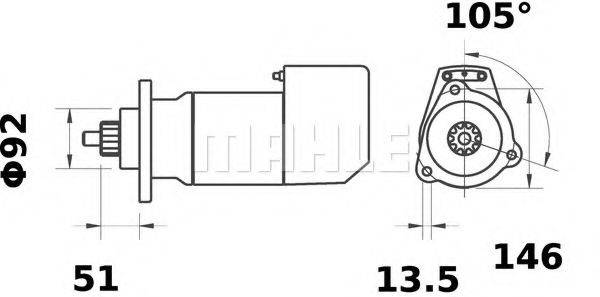 MAHLE ORIGINAL MS555 Стартер