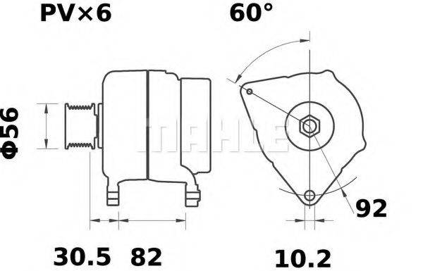 MAHLE ORIGINAL MG34 Генератор