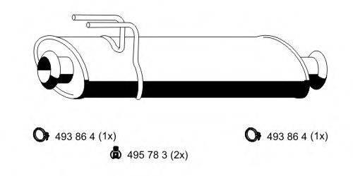 ERNST 048002 Средний глушитель выхлопных газов