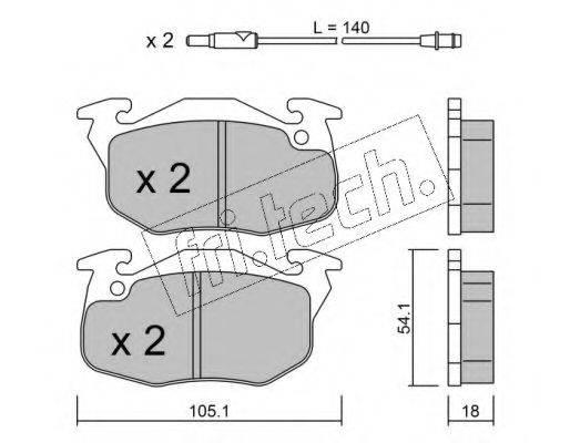 FRI.TECH. 0392 Комплект тормозных колодок, дисковый тормоз