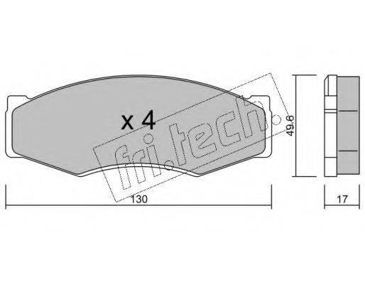 FRI.TECH. 0680 Комплект тормозных колодок, дисковый тормоз