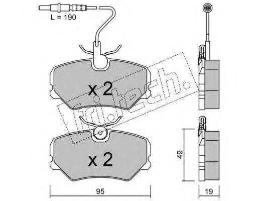 FRI.TECH. 1010 Комплект тормозных колодок, дисковый тормоз