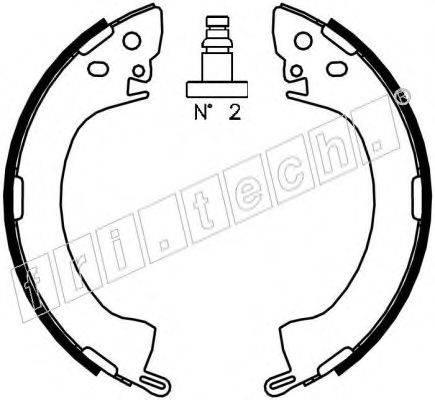 FRI.TECH. 1064154 Комплект тормозных колодок