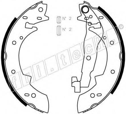 FRI.TECH. 1127269 Комплект тормозных колодок