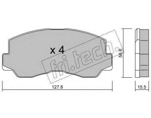 FRI.TECH. 1140 Комплект тормозных колодок, дисковый тормоз
