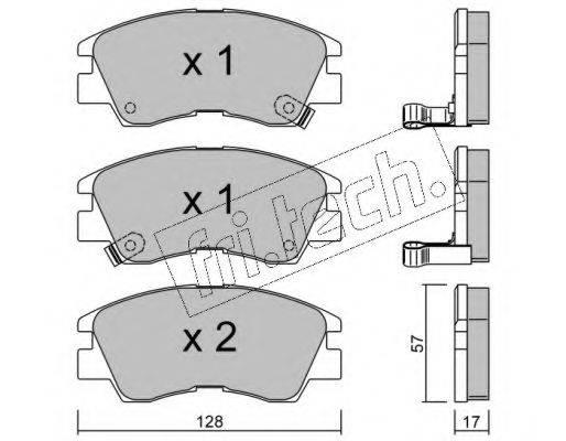 FRI.TECH. 1170 Комплект тормозных колодок, дисковый тормоз