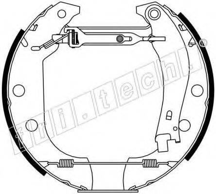 FRI.TECH. 16043 Комплект тормозных колодок