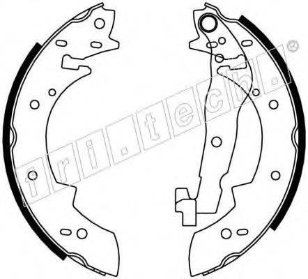 FRI.TECH. 17024 Комплект тормозных колодок
