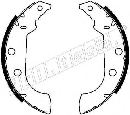 FRI.TECH. 17043 Комплект тормозных колодок