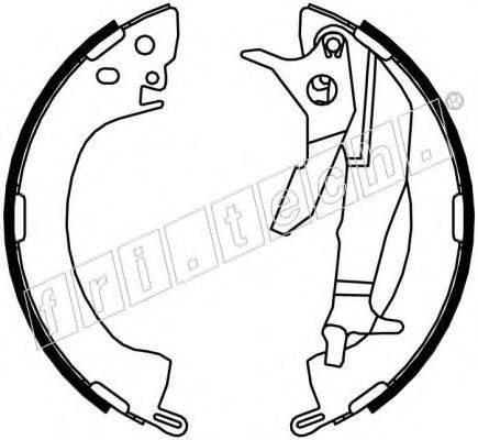 FRI.TECH. 1064154Y Комплект тормозных колодок
