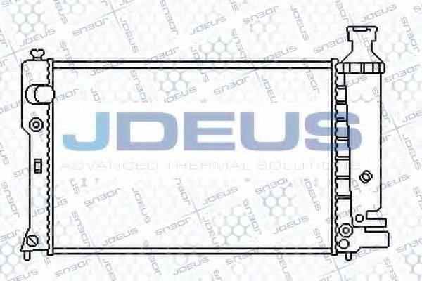 JDEUS 021E22 Радиатор, охлаждение двигателя