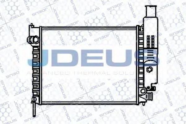 JDEUS 021V11 Радиатор, охлаждение двигателя