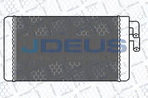 JDEUS 201M01 Теплообменник, отопление салона