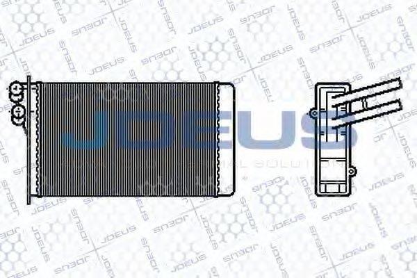 JDEUS 201B02 Теплообменник, отопление салона
